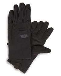 The North Face - Black 'etip Apex' Waterproof Climateblock Gloves for Men - Lyst