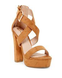 Elegant Footwear - Brown Gabriela Platform Sandal - Lyst