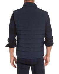 Vince - Blue Quilted Down Vest for Men - Lyst