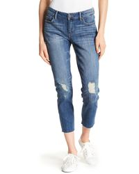 Lucky Brand - Blue Lolita Distressed Knee Crop Skinny Jeans - Lyst