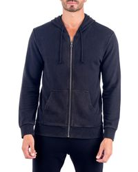 Unsimply Stitched - Blue Stone Washed French Terry Zip-up Hoodie for Men - Lyst