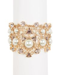 Givenchy - Metallic Round & Triangle Crystal & Pearl Bracelet - Lyst