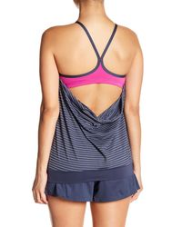 Nike - Blue Layered Tankini - Lyst