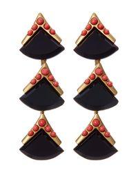 Loren Hope | Multicolor Geometric Stone Drop Earrings | Lyst