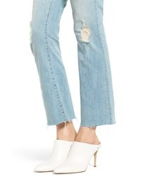 Mother - Blue The Hustler Frayed Ankle Jeans (written In The Sand) - Lyst