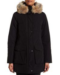Pendleton - Black Juneau Genuine Coyote Fur Trim Down Parka - Lyst