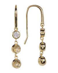 Melinda Maria | Metallic Abbie Cz Pod Linear Drop Earrings | Lyst