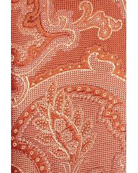 Calibrate - Orange Ellerson Paisley Silk Tie for Men - Lyst