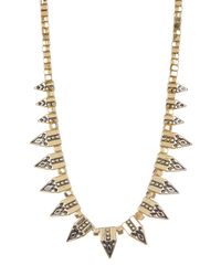 Jessica Simpson - Multicolor Pattern Spike & Bead Necklace - Lyst