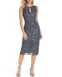Pisarro Nights - Multicolor Sequin Lace Sheath Dress (regular & Petite) - Lyst