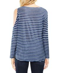 Two By Vince Camuto - Blue Rapid Stripe Top - Lyst