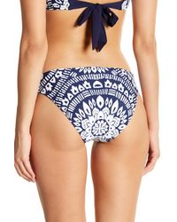 Trina Turk Blue Indochine Print Swim Bottoms