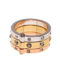 Kate Spade - Metallic Mixed Metal Hinged Ring - Lyst