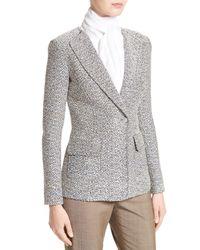St. John Multicolor Aluna Tweed Knit Double Breasted Jacket