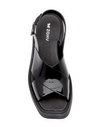 Zaxy - Black Hi-lo Platform Sandal - Lyst