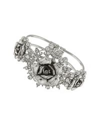 1928 - Metallic Crystal Flower Bracelet - Lyst