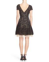 Eliza J | Black Lace Fit & Flare Dress | Lyst