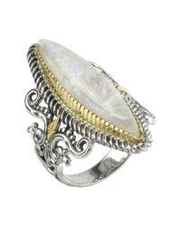 Konstantino - Metallic Sterling Silver & 18k Gold Labradorite Ring - Lyst