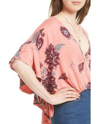 Urban Outfitters Pink Maui Wowie Palm Print Shirt