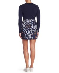 Ted Baker - Blue Scallop Detail Kyoto Mini Skirt - Lyst