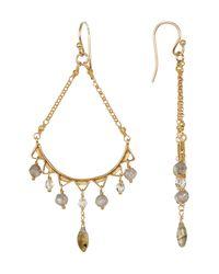 Chan Luu - Metallic Faceted Stone Drop Earrings - Lyst