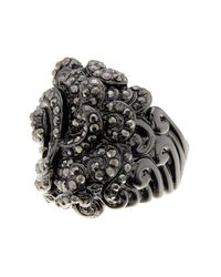Ariella Collection - Multicolor Baroque Pave Ring - Lyst