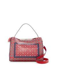 Nanette Lepore - Red Athena Printed Satchel - Lyst