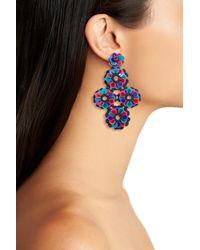 Kate Spade - Blue Posy Grove Sequin Statement Earrings - Lyst