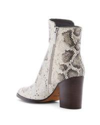 Donald J Pliner - Multicolor Sonoma Snake-embossed Block Heel Boot - Lyst