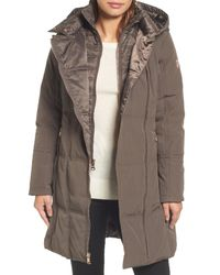 Vince Camuto - Multicolor Down & Feather Fill Coat - Lyst