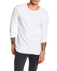 NANA JUDY - White Basic Long Sleeve Knit Tee for Men - Lyst