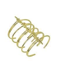 Noir Jewelry - Metallic Cape Cod Wide Cuff Bracelet - Lyst