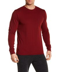 Threads For Thought - Red Pocket Crew T-shirt for Men - Lyst