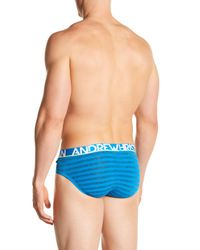 Andrew Christian - Blue Electric Striped Brief for Men - Lyst