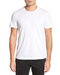Velvet By Graham & Spencer White 'howard' Crewneck T-shirt for men