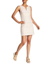 Trina Turk - Pink Delmi V-neck Printed Dress - Lyst