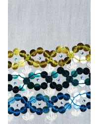 Tory Burch - Blue Embellished Oblong Scarf - Lyst