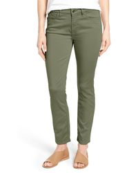 Jen7 - Green Colored Stretch Ankle Skinny Jeans - Lyst