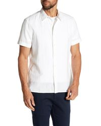 Perry Ellis - White Solid Linen Blend Shirt for Men - Lyst
