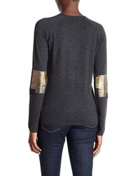 Zadig & Voltaire | Multicolor Reglis Lamb Leather Patch Wool Blend Sweater | Lyst