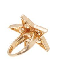 Jenny Packham - Metallic Glass Crystal Embellished Star Ring - Size 7 - Lyst