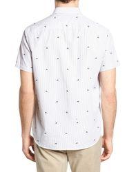 Michael Bastian - White Striped Trim Fit Sport Shirt for Men - Lyst
