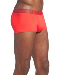 CALVIN KLEIN 205W39NYC - Red 'iron Strength' Trunks for Men - Lyst