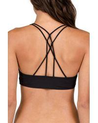 Volcom - Black Simply Solid V-neck Bikini Top - Lyst
