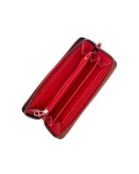 Liebeskind Berlin - Red Colorblock Pebbled Leather Long Wallet - Lyst