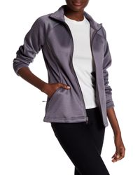 The North Face - Gray Rabbit Grey Agave Zip Jacket - Lyst