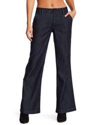 Level 99 - Blue Dahlia Wide Leg Trouser - Lyst