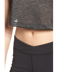 Free People - Black Fp Movement Retrograde Crop Top - Lyst