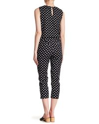 Cece by Cynthia Steffe - Black Equator Dot Crop Pant - Lyst