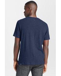 Rag & Bone - Blue Short Sleeve T-shirt for Men - Lyst